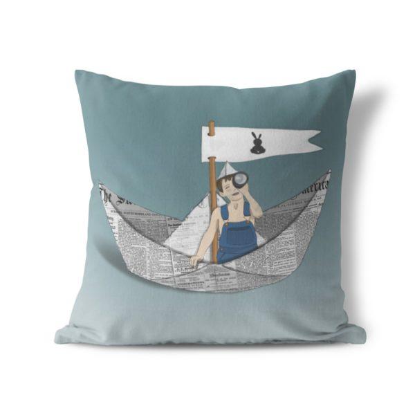 כרית נוי סירת נייר-יריד החלומות של נתנאלה