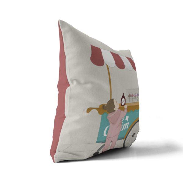 Ice cream cart throw pillow