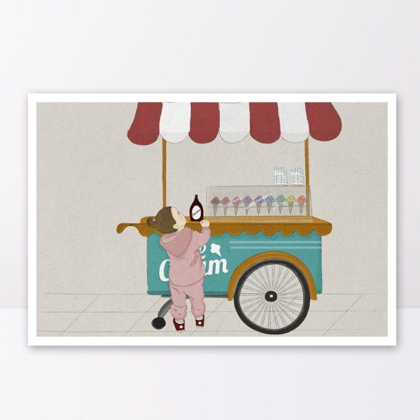 איור דוכן גלידה