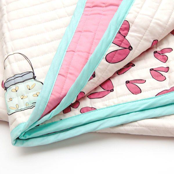 """Pink """"BELLE"""" bed cover blanket"""