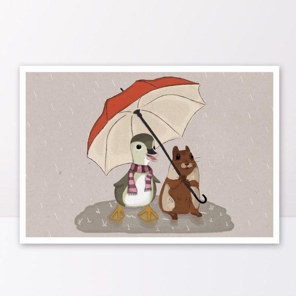 שנינו יחד תחת מטריה אחת