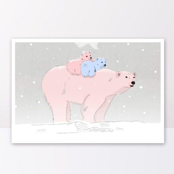 איורים לילדים, איורים לחדרי ילדים: תאומי הדובה