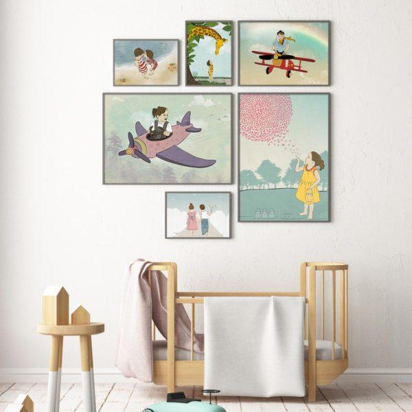 תמונות לחדר ילדים קיר גלריה