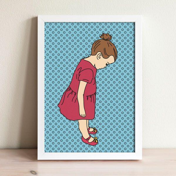 Boo's new shoes print- Nursery wall art, Kids room decor