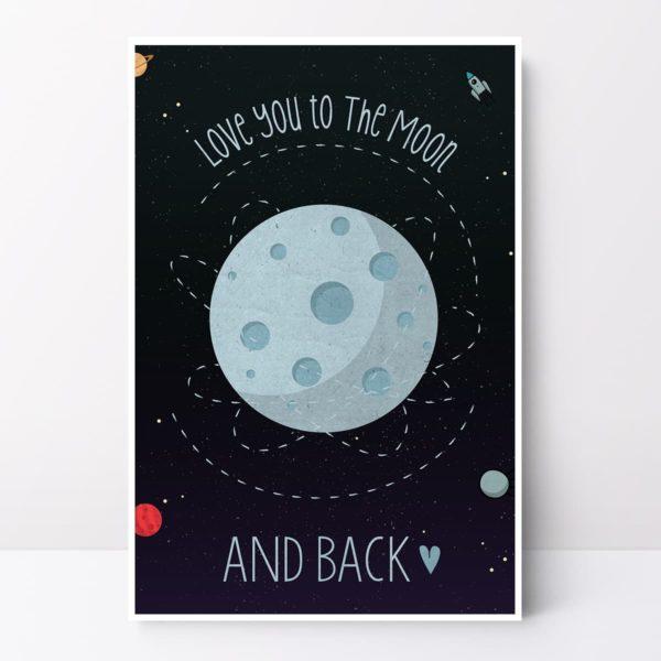 ציור ירח