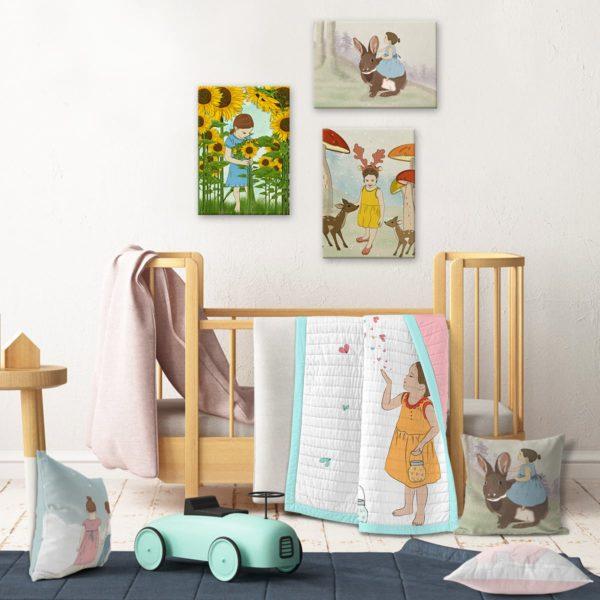 Kids wall decor nature