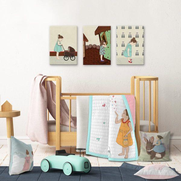 "Girls wall decor set ""playtime"""