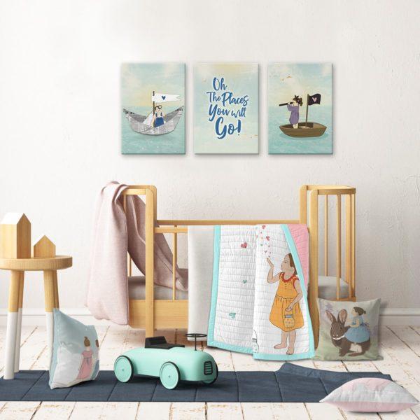 Kids room decor sea