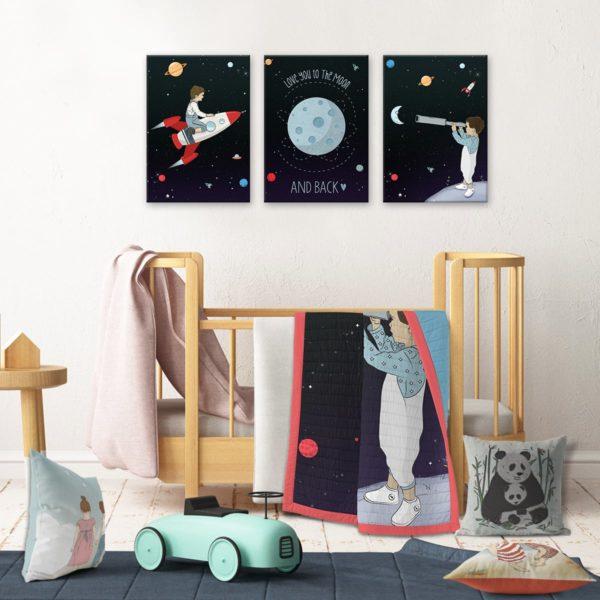 Kids room decor space boys