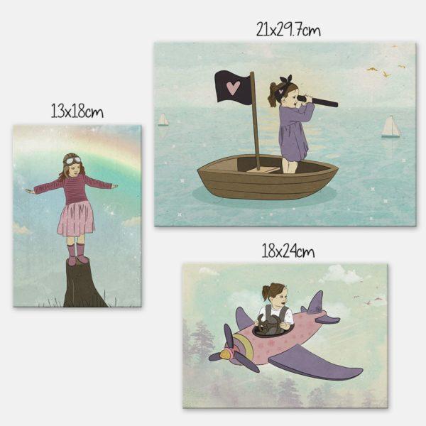 סט בנות הרפתקאה באויר, בים וביבשה