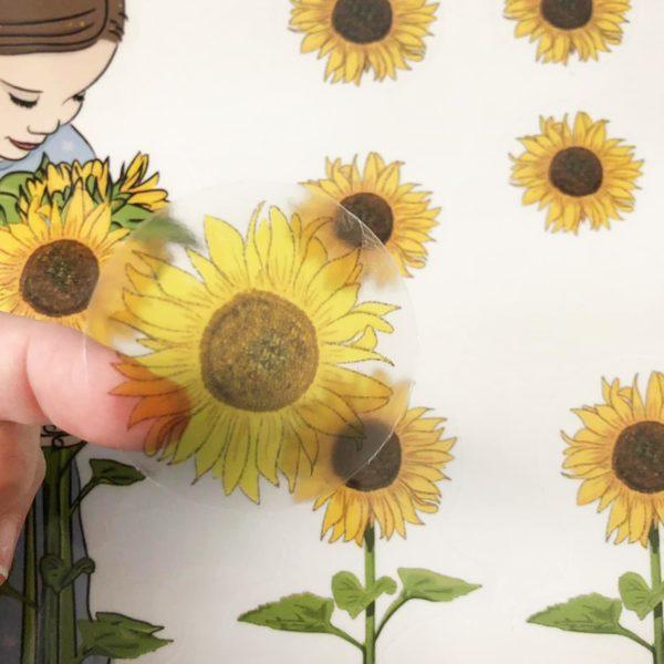 מדבקות קיר לחדרי ילדים – פרחי חמניות