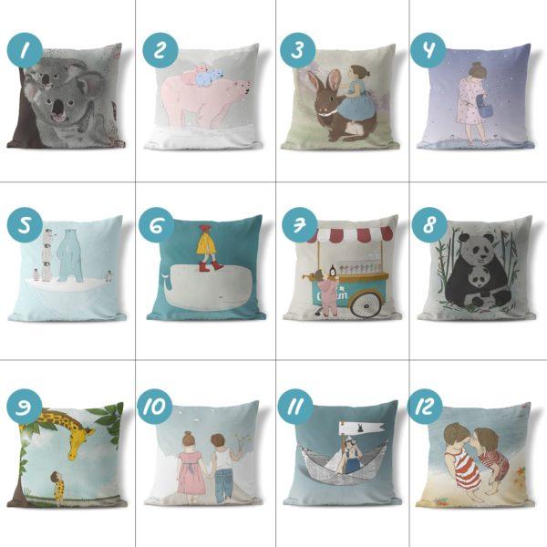 Throw Pillows & Decorative Pillows- ice cream cart (העתק)