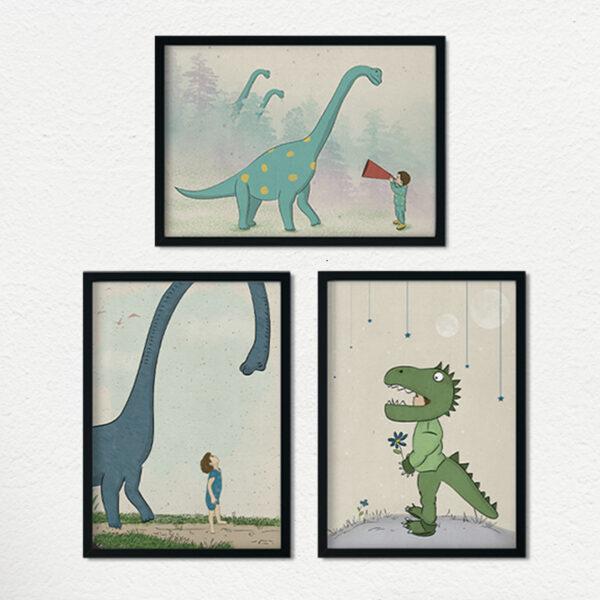 3 מסגרות דינוזאורים