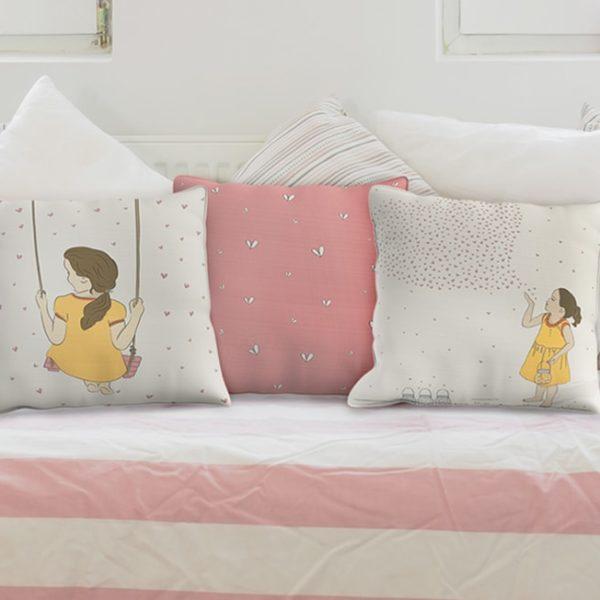 קולקציה חדשה סט שלוש כריות לחדר של הבת – יריד החלומות של נתנאלה