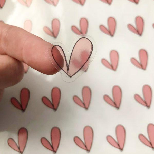 מדבקות קיר לבבות
