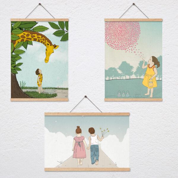 שלושה ציורים לאח ואחות