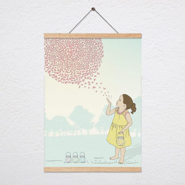 ציור בל מפריחה גחליליות