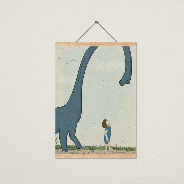 שלושה ציורים עם מתלה- דינוזאורים