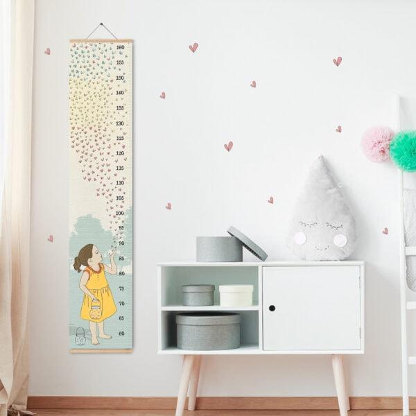 מד גובה לילדים גחליליות – סרגל גובה