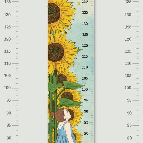 מד גובה לילדים חמניות – סרגל גובה