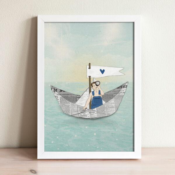 ציור סירה