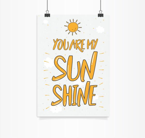 פוסטר you are my sunshine