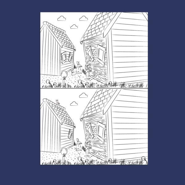מצא את ההבדלים הורדה דיטילית והדפסה בחינם