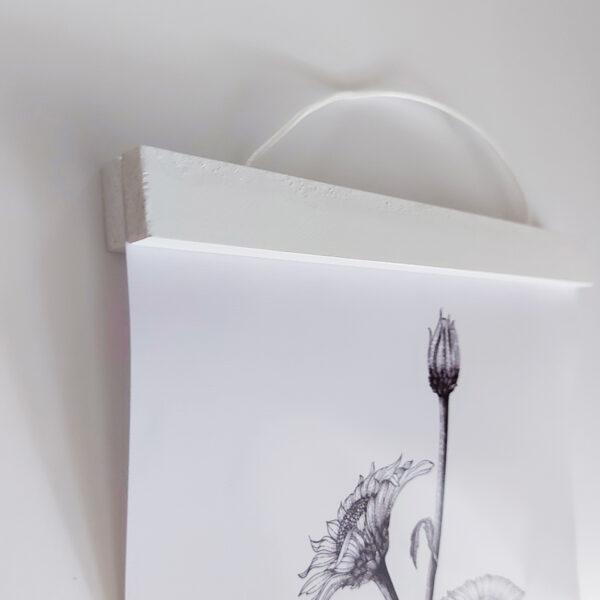 מסגרת תמונה מתלה לתמונה צבע לבן