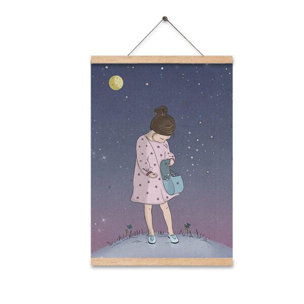 תמונה לחדר ילדים מלכת הכוכבים