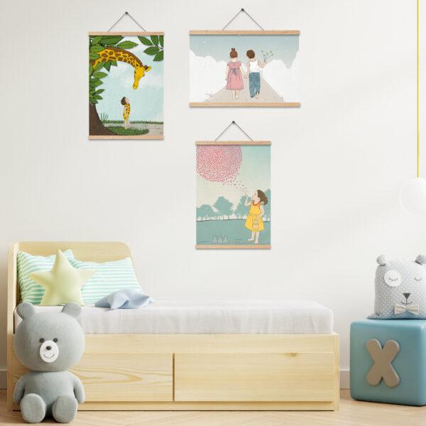 שלישית תמונות לעיצוב חדרי ילדים – חדר משותף