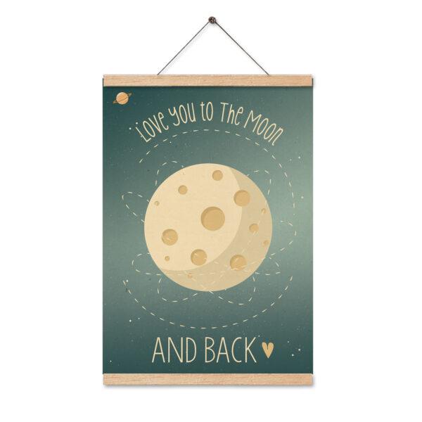 תמונה לחדר ילדים ירח