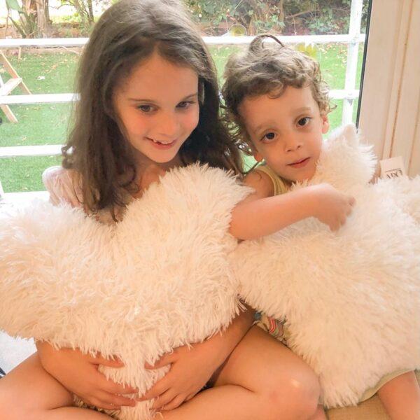 כרית פלאפי לב או כוכב לחדרי תינוקות/ילדים – בהנחה איסוף מהיריד