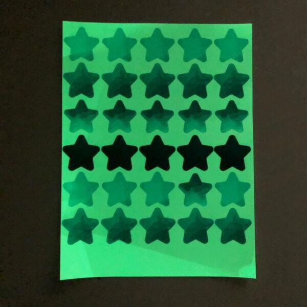 מדבקות קיר זוהרות בחושך לחדרי תינוקות/ילדים – כוכבים כחולים