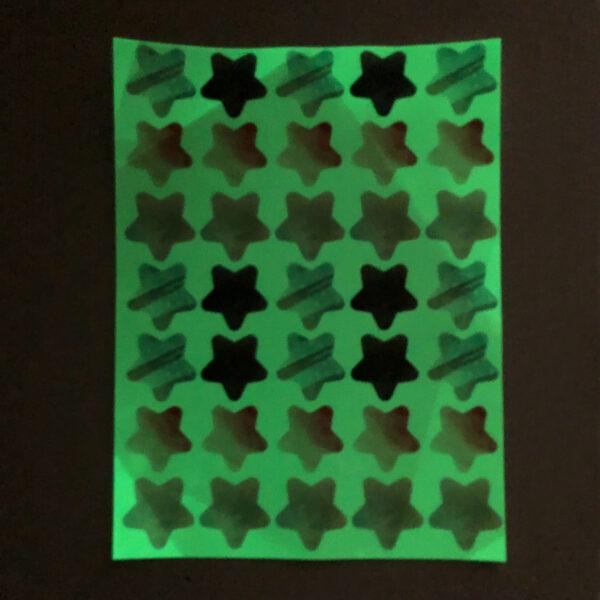 מדבקות קיר זוהרות בחושך לחדרי תינוקות/ילדים – כוכבים סגולים