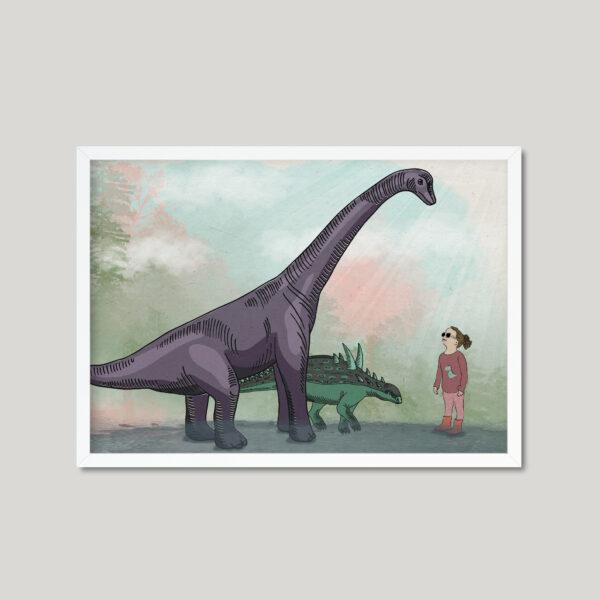 קיר גלריה דינוזאורים – עיצוב חדרי ילדים